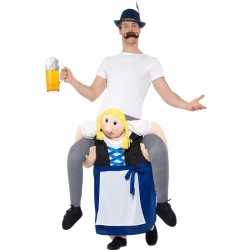 Oktoberfest verkleedcarnavalsoutfit man op bayerische vrouw