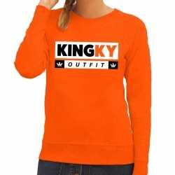 Oranje kingky outfit sweater kleding dames