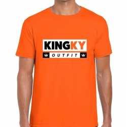 Oranje kingky outfit t shirt kleding mannen