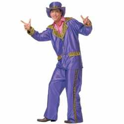 Paars funky carnavalsoutfit kleding mannen