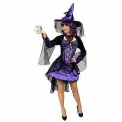 Paarse heks alexia verkleed carnavalsoutfit/jurk kleding dames