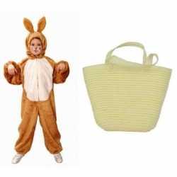 Paashaas carnavalsoutfit maat 140 152 paasmandje kleding kinderen