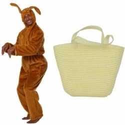 Paashaas carnavalsoutfit maat 56 58 paasmandje kleding volwassenen