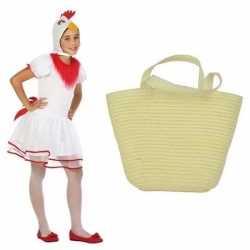 Paaskip carnavalsoutfit maat 128 paasmandje kleding meisjes