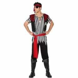 Piraat jack verkleed pak/carnavalsoutfit kleding mannen