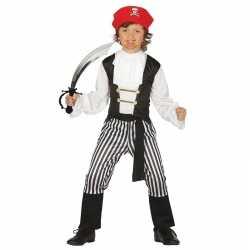 Piraten carnavalsoutfit maat 128 134 zwaard kleding kinderen