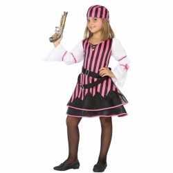Piraten carnavalsoutfit kleding meisjes roze