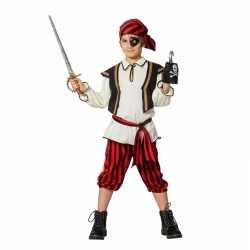 Piraten carnavalsoutfit rood/zwart kleding jongens