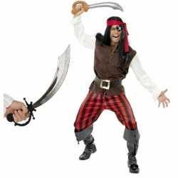 Piraten carnavalsoutfit zwaard maat l kleding volwassenen