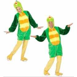 Pluche groene vogel carnavalsoutfit