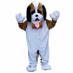 Pluche hond carnavalsoutfit kleding volwassenen