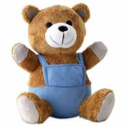 Pluche teddybeer blauwe outfit
