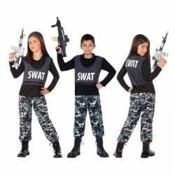 Politie swat verkleed pak/carnavalsoutfit kleding kinderen