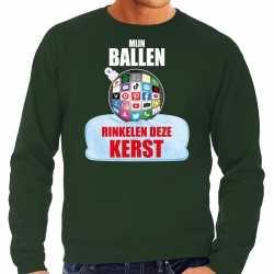 Rinkelende bal sweater / outfit mijn ballen rinkelen deze groen kleding mannen