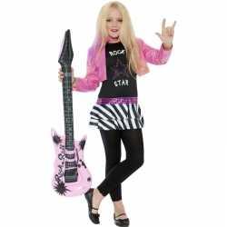 Rockstar carnavalsoutfit kleding meiden