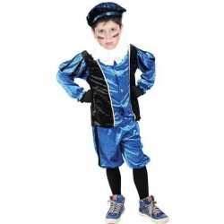 Roetveeg pieten carnavalsoutfit blauw/zwart kleding kinderen