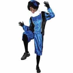 Roetveeg pieten carnavalsoutfit blauw/zwart kleding volwassenen