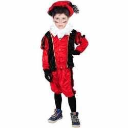 Roetveeg pieten carnavalsoutfit rood/zwart kleding kinderen