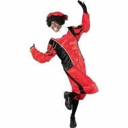 Roetveeg pieten carnavalsoutfit rood/zwart kleding volwassenen