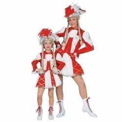 Rood Dansmarieke carnavalsoutfit kleding meiden
