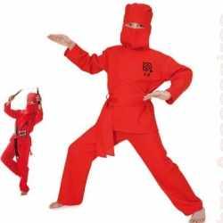 Rood Ninja carnavalsoutfit kleding kinderen