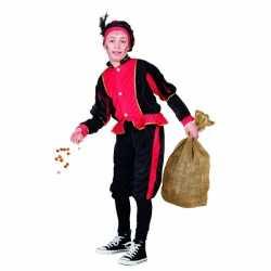 Rood pieten carnavalsoutfit kleding kinderen