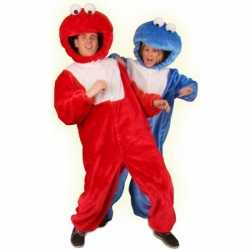 Rood pluche monster carnavalsoutfit