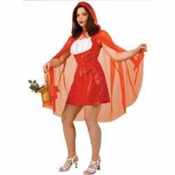Roodkapje jurk cape carnavalsoutfit / verkleedkleding