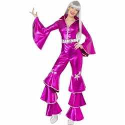 Roze Dancing Queen carnavalsoutfit 70s