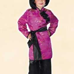 Roze geisha carnavalsoutfit kleding meisjes