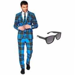 Schotse kleding mannen carnavalsoutfit maat 54 (xxl) gratis zonnebril