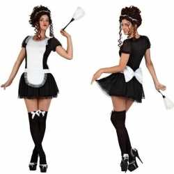 Sexy dienstmeisje verkleed carnavalsoutfit/jurkje kleding dames