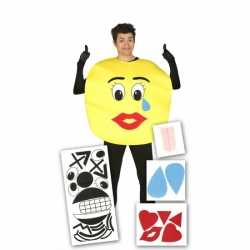 Smiley carnavalsoutfit stickers kleding volwassenen