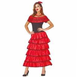 Spaanse danseres flamencojurk rood verkleed carnavalsoutfit kleding d