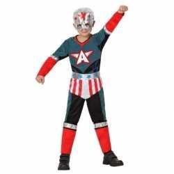 Superheld kapitein amerika pak/verkleed carnavalsoutfit kleding jonge