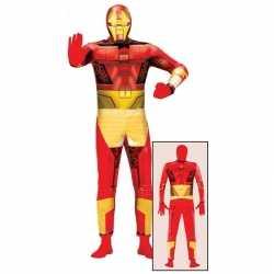 Superheld metalen man carnavalsoutfit kleding volwassenen