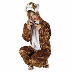 Tijger dierencarnavalsoutfit kleding dames