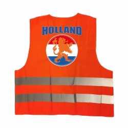 Veiligheidshesje holland oranje leeuw ek / wk supporter outfit kleding volwassenen