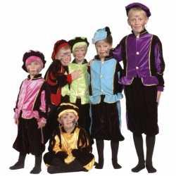 Verkleedkleding blauwe Pieten carnavalsoutfit kleding kinderen