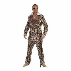 Verkleedkleding pimp carnavalsoutfit luipaardprint