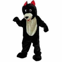 Verkleedkleding pluche wolf carnavalsoutfit