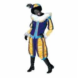 Verkleedkleding roetveeg pieten carnavalsoutfit geel/blauw kleding da
