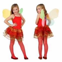 Vlinder carnavalsoutfit kleding kinderen rood
