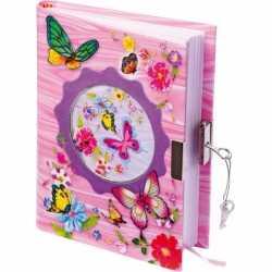 Vlinder dagboek slot