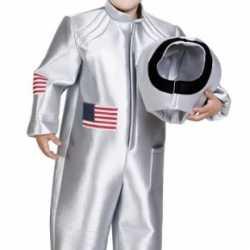 Zilveren astronauten carnavalsoutfit kleding kinderen