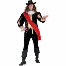 Zwart middeleeuws verkleedkleding carnavalsoutfit kleding mannen