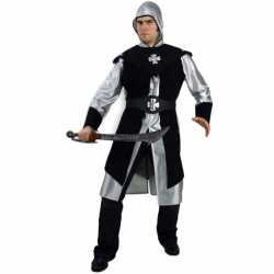 Zwart ridder carnavalsoutfit kleding mannen