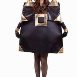 Zwarte handtas carnavalsoutfit kleding dames