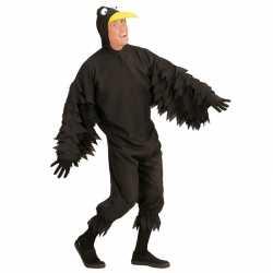 Zwarte kraai carnavalsoutfit kleding volwassenen