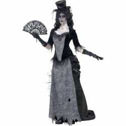 Zwarte weduwe horror carnavalsoutfit